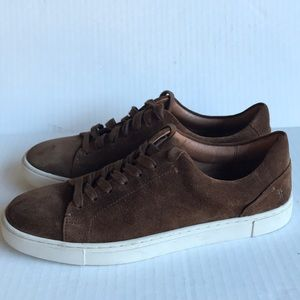 FRYE Ivy Low Lace Suede Sneakers 10M